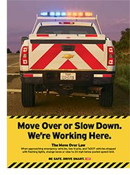 """September not only brings the start of fall, but also the start of a new requirement for Texas drivers. The state's Move Over/Slow Down law, which traditionally has required drivers to yield to police, fire and emergency vehicles, has now been expanded to provide that same protection for Texas Department of Transportation workers."" Effective Sep.1, 2013."