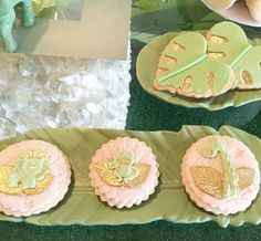 The animal cookies at this Green Jungle Baby Shower are fabulous!! See more party ideas and share yours at CatchMyParty.com