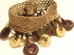 button crochet bracelet