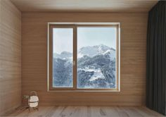 Haus Fontanella Chalet by Bernardo Bader Architects Contemporary Architecture, Interior Architecture, Interior And Exterior, Interior Design, Bernardo Bader, Window Detail, Mountain Homes, Architect Design, Black House