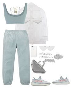 """Untitled #4539"" by mollface ❤ liked on Polyvore featuring Yeezy by Kanye West, Balenciaga, Kendra Scott, Audemars Piguet, Roial and Le Specs"