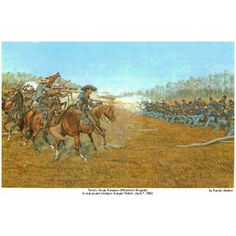 """8th Texas Cavalry at Shiloh. Albert Sidney Johnson, at Shiloh, witnessing their charge in column upon a strong position, while Hardee moved in the rear, and which resulted in the capture of Gen. Prentiss and his entire command, enthusiastically exclaimed, """"with a little more discipline they would be the equals of the Old Guard."""" Tuesday evening at Shiloh, the enemy had passed to within one mile of Breckinridge, who was covering the retreat with the remains of his shattered and wearied…"""