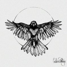 Love this Crow/Raven done with my hatching style. Done in Linework only with some minimal geometry. Any birdwatcher or bird lovers out there? Here's Edgar Allan Poe tattoo for you! Tattoo Po, Poe Tattoo, Tattoo Wings, Crow Tattoo Design, Wing Tattoo Designs, Bird Tattoo Men, Black Crow Tattoos, Tribal Tattoos, Black Bird Tattoo