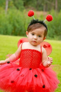LadyBug tutu dress costume by SuperCuteTutusandBow on Etsy