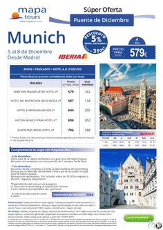Munich Puente Diciembre desde Madrid**Precio final desde 579** ultimo minuto - http://zocotours.com/munich-puente-diciembre-desde-madridprecio-final-desde-579-ultimo-minuto/