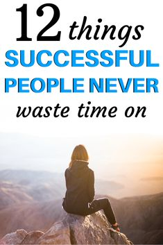 What do successful people do that unsuccessful people don't do? How are they better at time management and productivity? Here are 12 things successful people never waste time on. Steal these self-improvement tips now! Achieving Goals, Self Improvement Tips, Successful People, How To Better Yourself, Life Lessons, Life Skills, Best Self, Self Development, Time Management