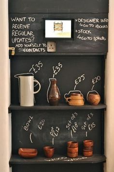 カフェの黒板メニューの書き方
