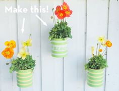DIY kids outdoors | DIY Idea: Recycled Paint Can Planters! » Curbly | DIY Design ...
