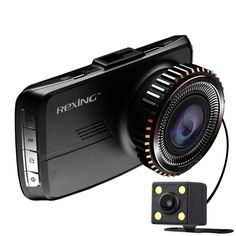 REXING HD18 Dash Cam Dual Front and Rear with 250 Degree Angle HD Dashboard Camera and Visual Reversing Function for Car Vehicle. 2 Lens system can well cover both front and rear, 720P font and 480P rear, 160 degree for front, and 90 degree for rear, 250 degree in total. Comes with visual reversing function, when you reverse, the screen will display the images behind the vehicle. 4 meters wire for car charger and 6 meters wire for rear camera which are long enough to simplify the...