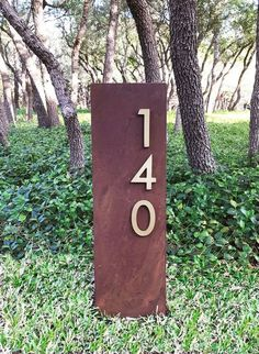 Address Signs For Yard, Address Numbers, Address Plaque, House Address, 4 H, Shipping Container House Plans, Shipping Containers, Modern Fonts, House Numbers