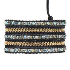 Love the mix of chain in this wrap bracelet