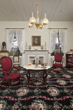 Interior of the Middleton Place House Museum - Music Room ...
