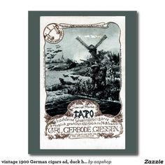 Looking for a unique postcards to send friends and family on holiday? Then browse Zazzle's delightful range of personalised vintage postcards. Tao, 2nd October, Postcard Design, Vintage Postcards, Hunters, Cigars, German, Templates, Holiday