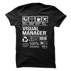 (Top Tshirt Sale) Visual Manager T-shirt [Hot Discount Today] Hoodies Tee Shirts