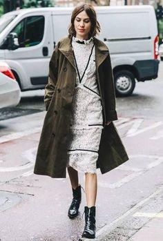 alexa chung white dress street style