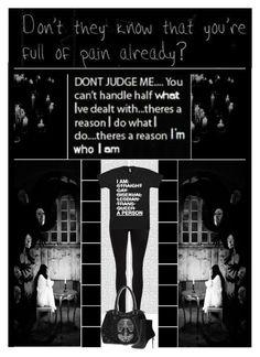 """DON'T JUDGE ME..."" by ilovehedgehogs1029 ❤ liked on Polyvore featuring Oris, Dr. Denim, Balmain, Dark, emo, goth, gothic, balmain, black and depression"