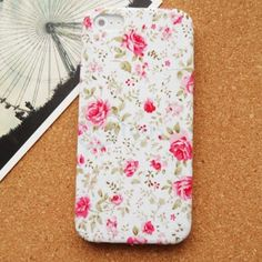 Uncommon Slim Case for iPhone 5 with Pink Flower Back Cover  www.slickfuns.com/uncommon-slim-case-for-iphone-5-with-pink-flower-back-cover.html