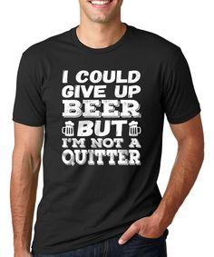 Black 'I'm Not A Quitter' Crewneck Tee - Men's Regular