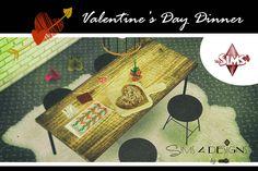 Valentine's Day Dinner (new mesh) | Sims 4 Designs