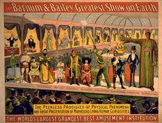 Mídia Sensacionalista - Barnum e seu Circo de Aberrações.