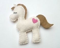 Felt pony decoration for kid's room - horse ornament for Christmas Housewarming home decor Baby shower ideas for her for him eco friendly - pinned by pin4etsy.com