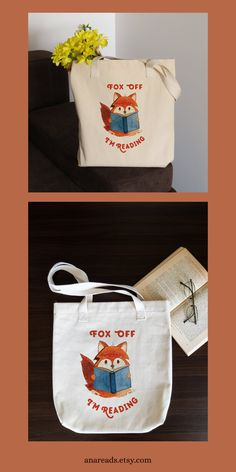 Adopt Suzy the Reading Fox and let her be your companion when you go book shopping. She will even help you carry all those books you plan to buy. This LA Apparel tote bag is durable and made of a thick bull denim cotton fabric. Denim Cotton, Cotton Fabric, Book Making, Book Gifts, Cotton Tote Bags, Book Worms, Book Lovers, Suzy, My Etsy Shop