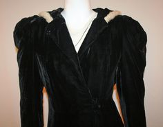 ~ FABULOUS VELVET & FUR HOODED EVENING COAT *c1930s BEST & CO NY * SILK LINING   eBay