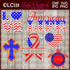 LC131 American Life by LadyChatterlyDesigns on Etsy