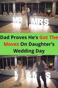 There are few things in life that are more monumental for a father than dancing with his daughter on her wedding day.