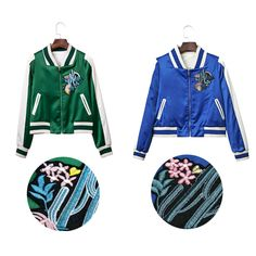 2016 autumn period and cactus embroidery baseball uniform bomber jackets coat women cultivate morality joker para svitshot