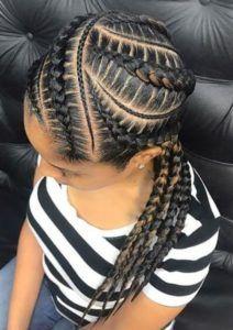 85 Box Braids Hairstyles for Black Women - Hairstyles Trends Black Girl Braids, Braids For Black Hair, Girls Braids, Braided Hairstyles For Black Women Cornrows, Feed In Braids Hairstyles, Girl Hairstyles, Black Hairstyles, Hairstyles 2018, Trendy Hairstyles