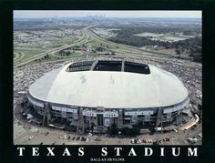 Texas Stadium in Dallas, TX... wow, how many games have I been to in this stadium?