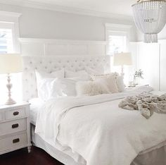 Best elegant small bedroom design ideas with stylish, art touching, and clean design. Small bedroom is best choice for your home with small space. All White Bedroom, White Rooms, Dream Bedroom, Home Bedroom, Master Bedroom, Bedroom Decor, Bedroom Ideas, Bedroom Inspo, Bedroom Inspiration
