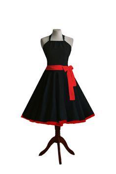 schwarzes neckho Kleid im 50er Stil mit Petticoat  von Miss Bobby auf DaWanda.com