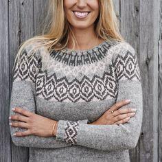 Icelandic pullover sweater PDF knitting pattern / women's