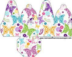 Cajitas para imprimir gratis de mariposas