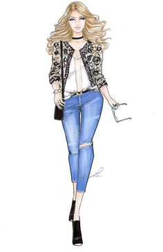 Ideas For Fashion Illustration Girl Design
