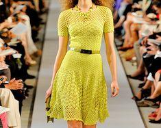 Crochet dress PATTERN designer crochet dress by FavoritePATTERNs