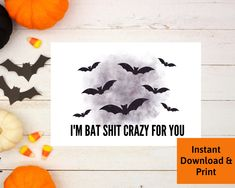 Halloween Card for Boyfriend, Halloween Card for Husband, Girlfriend, Wife, Printable Digital Download