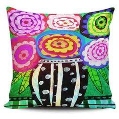 Cojin Decorativo Tayrona Store Jarron Flores - $ 43.900