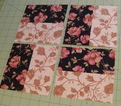 This simple Staircaseblock will make a stunning finished quilt. Scroll down to see how the blocks will look when several are combined. F...