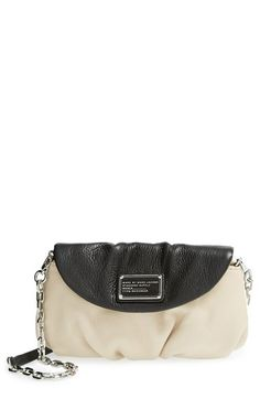 Free shipping and returns on MARC BY MARC JACOBS 'Classic Q - Karlie' Crossbody Bag at Nordstrom.com. A gleaming chain strap lends a subtly edgy vibe to a pleated, lightly textured leather bag branded with a signature workwear-inspired logo plate on the curved front flap.