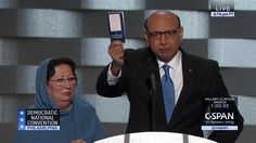 """IF YOU HAVEN'T SEEN THIS -- YOU MUST.  Khizr Khan delivers remarks at the Democratic National Convention. """"You have sacrificed nothing nor anyone""""."""