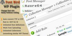 FontBird, easy change WordPress site's font . FontBird, Easy to change any fonts on your Wordpress