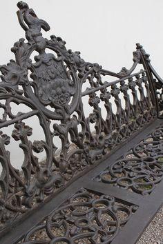 Elaborate Wrought Iron Bench