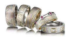 Mokume Gane Rings - http://www.krikawa.com/ - entrenous by LE NOEUD www.enbyln.com