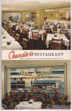 Chamdler's Restaurant, E 46th Street, New York City - 1954