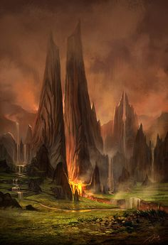 fantasy landscape by jandrew