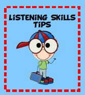 Listening skills tips and free labels from Teach123