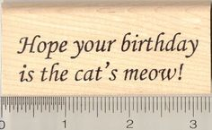 Cats Meow Rubber Stamp >>> Continue to the product at the image link.